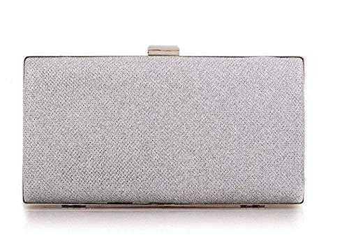HeiPlaine Weiblich Elegante Abend-Handtasche der Frauen-Hochzeits-Abschlussball-beweglicher Partei-Geldbeutel Griff Tasche (Farbe : Silver, Größe : 22 * 4 * 11.5cm) - Griff-abend-geldbeutel