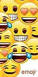 Trendiges Emoji Badetuch Strandtuch Duschtuch - 140 x 70 cm - 100% Baumwolle
