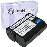 Trade-Shop Premium Akku 1900mAh ersetzt EN-EL15 für Nikon D500 D600 D610 D750 D850 D7000 D7100 D7200 D7500 D800 D800E D810 D810A D8000 Nikon 1 V1, Batteriegriff MB-D11 MB-D12 MB-D14 MB-D15 MB-D17 Batterieladegerät MH-25 MH-25a