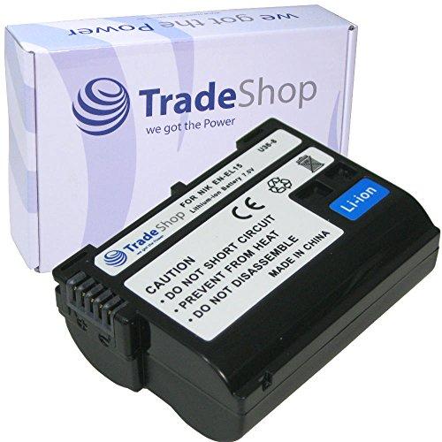 Trade de Shop Premium Batería 1900Mah, equivalente a EN-EL15para Nikon D500D600D610D750D850D7000D7100D7200D7500D800D800E D810D810A D8000Nikon 1V1, empuñadura de batería MB-D11MB-D12MB-D14MB-D15MB de D17Cargador de batería Ni-MH de 25MH de c-25a