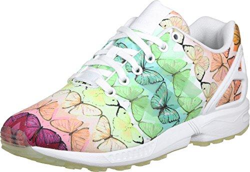 adidas Zx Flux, Sneakers Basses Femme, Schwarz Vert