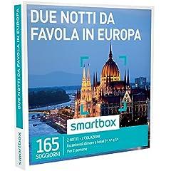 Idea Regalo - smartbox, Due Notti da Favola in Europa - 165 Soggiorni in Hotel 3* e 4*, Cofanetto Regalo, Soggiorni