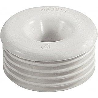 Gummi-Spülrohrverbinder für Euro-WC 1-2'' Druckspüler Anschluss 55-58mm- ohne Rosette