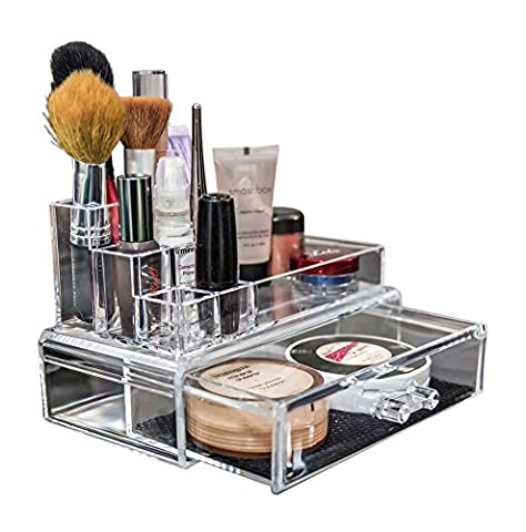 Your Cosmetic Organiser Allows You To Keep All Your Cosmetics Organised For Daily Use. Your Makeup Organizer Centralizes Your Items Should You Need To Pack A Cosmetic Bag. Your Acrylic Makeup Organiser Can Hold Your Makeup Brushes, Lipstick Or Smaller Items In Your Makeup Organiser Tray