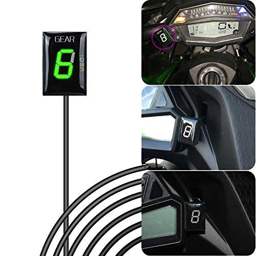 IDEA Indicador de Marcha de Motocicleta Impermeable con Pantalla LED Verde para...