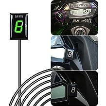 IDEA Indicador de Marcha de Motocicleta Impermeable con Pantalla LED Verde para Kawasaki 2007 2008 2009
