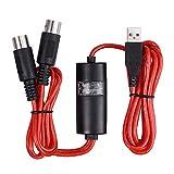 Cuasting 5-pins Midi naar USB In-Out Kabel Converter Voor Ios Laptop naar Muziek Piano Toetsenbord