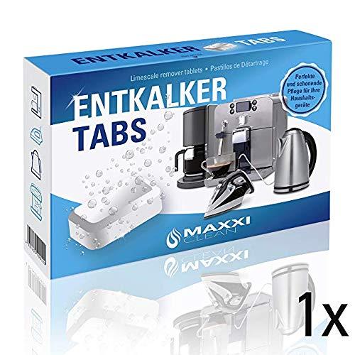 Maxxi Clean 50 Entkalker-Tabs, Kalklöser und Kalkreiniger als Allzweckreiniger zur Reinigung für Kaffeevollautomaten, Senseo, Tassimo, Vollautomaten, Wasserkocher und Waschmaschinen