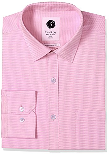 Symbol-Mens-Formal-Premium-Dobby-Slim-Fit-Shirt-SYMSTRUC13342Pink