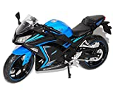 alles-meine.de GmbH Kawasaki Ninja 300 Blau Schwarz SE Special Edition 1/12 KTM Modell Motorrad Modell Auto