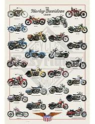 Empire 536655 Harley Davidson Legend - Póster de motos Harley Davidson (68x98cm), diseño con texto en inglés