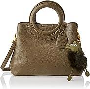 Zeneve London Womens Satchel Bag, Green - 1191832031