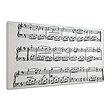 Noten Musik Notenschlüssel Notenblatt Textur Leinwand Poster Druck Bild vv1644 90x60