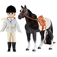 Lottie Doll Set with Horse - Doll & Pony - Blond Hair And Blue Eyes and Pony with Black Hair