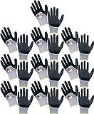 LeiKaFlex Star Feinstrick Handschuh teilbeschichtet Farbe 10 Paar Größe 9