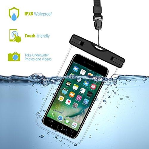 KingSnow Unterwasser Handy Hülle, Wasserdichte Handyhuelle für iPhone 6 / 6s / 7 Plus / 8 Plus, Schneegeschützt Tauchen Unterwasser Fotografieren Samsung Galaxy S6 / Samsung S7 / Galaxy S8 (Unterwasser-kamera-iphone 6)