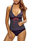 Toobeauty Sexy Tankini Push Up Rembourré Col V Profond à Dos Nu Amincissant Taille...