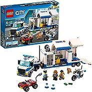 LEGO 60139 City Police Mobil kommandocentral, Byggsats med Minifigurer, Polisleksak för Barn 6+ år