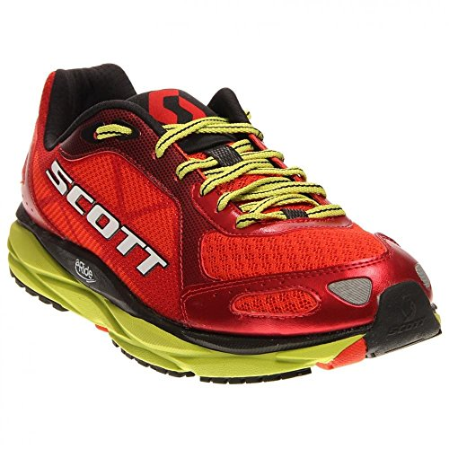 Scott AF+ Trainer Road Running Shoes Red/Green Mens UK 7.5 Red
