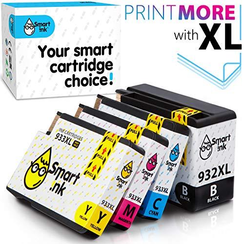 Druckerpatronen Tintenpatronen für HP 932 XL 933 XL 932XL 933XL 4 Multipack Black&C/M/Y Patrone hoher Kapazität für HP Officejet 6600 6100 6700 7110 7510 7610 7612 Drucker ()