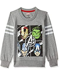 Avengers Kids Boys Grey Melange Color Sweatshirt