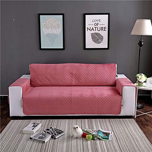 PCSACDF Qualität verdickt Plus Sofa Couch Bezug abnehmbar waschbar ArmlehneSitz Schonbezug für Hunde Haustiere Im Winter warm halten 1 Sitz 53x195cm Wassermelonenrot