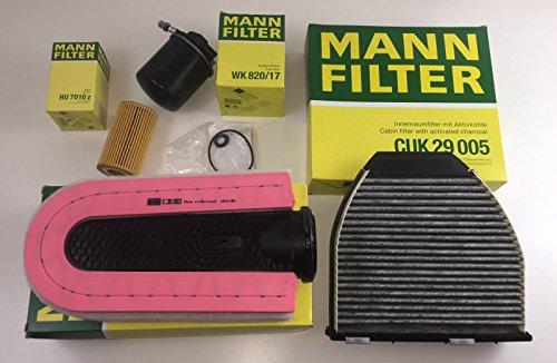 MANN-FILTER FILTER SET ÖLFILTER LUFTFILTER AKTIVKOHLEFILTER Kraftstofffilter W212 S212 W204 S204 CDI - bitte Einschränkung in der Beschreibungbeachten
