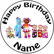 "Personalised In The Night Garden Cake Topper - A Pre-cut Round 8"" (20cm) Icing Decoration"