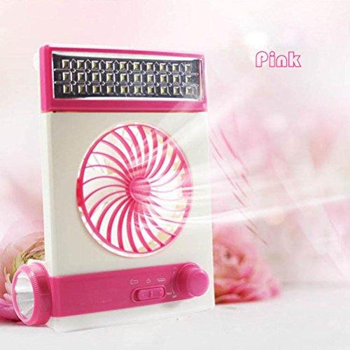 Preisvergleich Produktbild YL Solar Kleine Lüfter Led-Lichtventilator Multifunktions-Kleinlüfter ,  Pink, pink