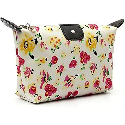 Malloom 1pc Donne Travel Casual Cosmetic Pouch Pochette Trucco Borsa Borsa (rosa caldo) - Cartella Pouch