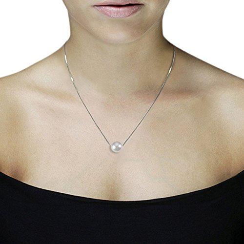 Goldmaid-Pa Chaîne avec pendentif Akoya 375gr-Perle-Perle de culture-Blanc Weißgold