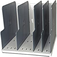 Exacompta 390740D - Clasificador vertical para formato A4, clásico con 5 placas de separación, color gris