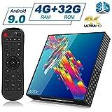 A95X Android 9.0 TV Box 4K 3D Smart TV Box [4GB RAM +32GB ROM] Bluetooth 4.2 RK3318 Quad-core Cortex-A53 CPU 2.4G/5GHz WiFi Ethernet LAN100M H.265 Android 9.0 TV Box