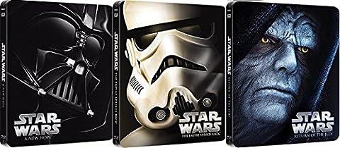 Star Wars: Trilogie - Episode IV-VI Steelbook [3Blu-Ray] [Region Free] (Deutsche Sprache. Deutsche