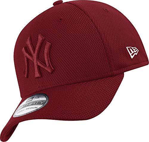 New Era New York Yankees 39thirty Stretch Cap Diamond Era Tonal Maroon - L-XL