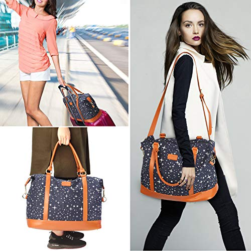 Womens Overnight / Weekend Bag with PU Leather Strap