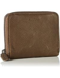 Marc O'Polo Damen Zip Wallet M Geldbörse, Braun (Café), 9.5 x 2.3 x 11.5 cm