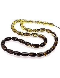 Ambermilana Baltischen Bernstein Gebetskette/Tesbih Islamische Gebetskette 33 Perlen