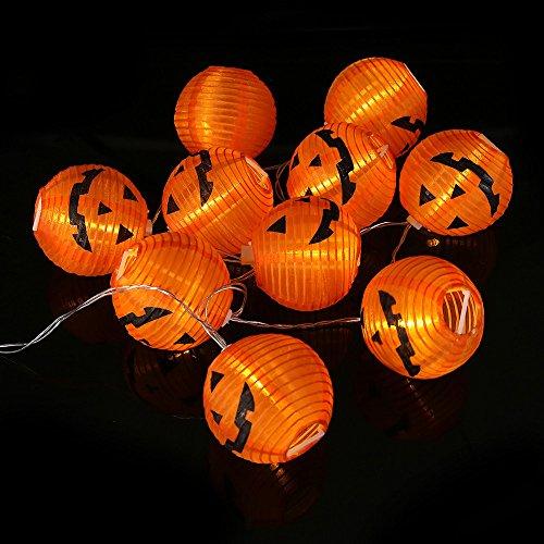 bloatboy Kürbis Spinne Lichterketten Halloween Dekoration Lichterkette Requisiten Batterien Licht Party Dekoration Hängen Home Party Bar (A(10 LED))