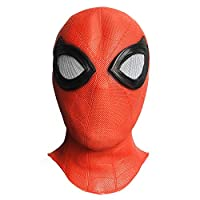 ZMJ Spider-Man Helmet Marvel Superhero Full Face Latex Mask Halloween Masquerade Cosplay Accessory Red