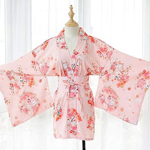 QWE Neue hochwertige japanische Bedruckte Cherry Blossom Kimono -Anzug sexy Nachthemd - Cherry Blossom Ärmel
