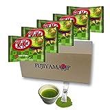 Japanese Kit Kat Matcha Green Tea Flavor 5 Pack and Matcha Drink set (Total mini 45 pack)