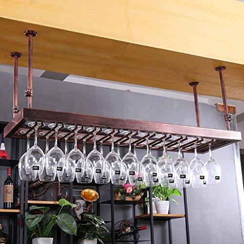 Wine rack Botelleros - American Glass Holder Hanging Stemware KTV Bar Colgante...