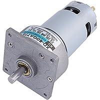 Motor micro reductor, 60GA775 DC12V 35W Torque grande Velocidad ajustable Bajo nivel de ruido Regulación de la velocidad de apoyo, para parrillas, puertas y ventanas automáticas, etc.(300rpm)