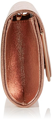Swanky Swans Damen Kim Metallic Envelope Bag Clutch, 5x12.5x21.9 cm Gold (Champagne Rose)