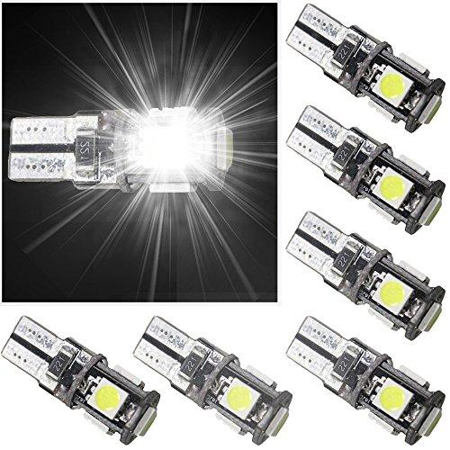 Muchkey 13802 T10 W2,1 x 9,5D W5W Ampoules LED pour éclairage intérieur de voiture