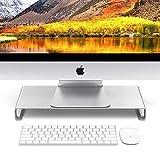 ZED- Alloggiamento per Laptop in Alluminio Riser, Vassoio per scrivania Scrivania Supporto per scrivania da Tavolo Supporto per Notebook-Piccolo 40x21x4.4cm
