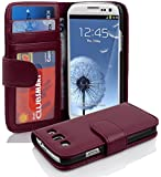 Cadorabo - Book Style Hülle für Samsung Galaxy S3 / S3 NEO (I9300) - Case Cover Schutzhülle Etui mit 3 Kartenfächern in BORDEAUX-LILA