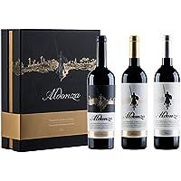 Vino tinto Aldonza, Estuche Leyenda, 1 bot.  Dehesa de  Navamarin 2010, 1 bot.  Seleccion 2012 y 1 bot. Clasico 2009. (Pack 3 botellas)