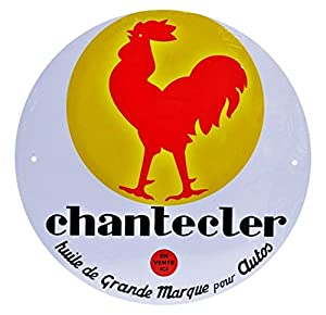 Dioramax-Placa Metal-Chantecler-Blanco/Amarillo/Rojo-Escala-1/1